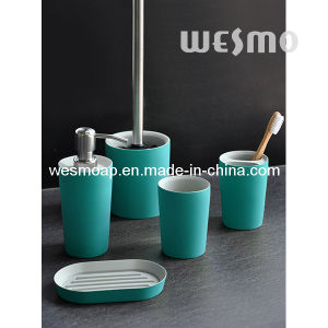 Two Tone Polyresin Bathroom Accessory Set (WBP0236O) pictures & photos