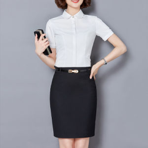 White Ladies Formal Shirt Designs for Fancy Ladies pictures & photos