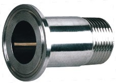 Sanitary Stainless Steel Clamped-Thread Nipple