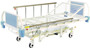 Hot Sale Medical Hospital Furniture Four Function Hydraulic Patient Bed pictures & photos