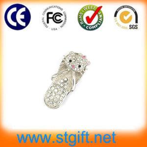Fashion Necklace Crystal Cat USB 2.0, Jewelry USB Pendrive, Cute Kitty Diamond USB Stick