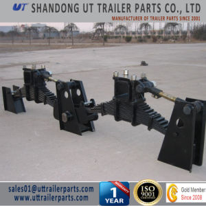 BPW Type Mechanical Suspension Two Axle / Tandem Overlung / Underslung with Leaf Spring pictures & photos