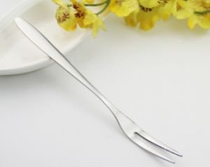 Cheap Price 410 Mirror Polished Stainless Steel Fruit Fork pictures & photos