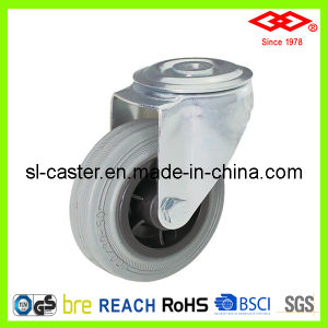 160mm Grey Rubber Bolt Hole European Type Industrial Castor (G102-32D160X40) pictures & photos