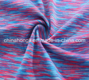 High Quality Poly/Sp 92/8 Space Dyed Yarn Yoga Knitting Lycra Fabric for Women Garment pictures & photos