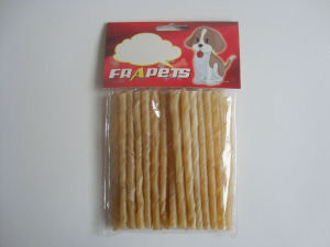 "Dog Food Natural Rawhide Twist Stick (5""/6-8mm) pictures & photos"