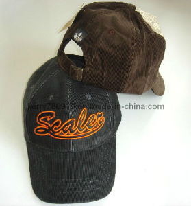 Corduroy Cotton Baseball Cap with Embroidery Patch pictures & photos