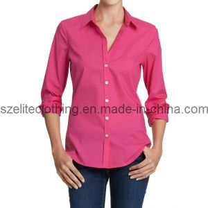Pink Long Sleeve Business Shirt (ELTWDJ-91) pictures & photos