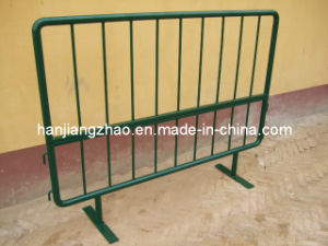 Green PVC Coating Steel Road Barricade--Crowd Control Barrier Factory pictures & photos