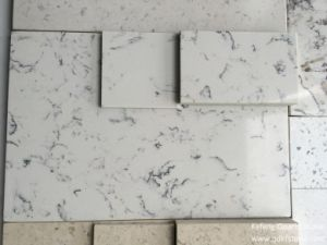 Carara Marble Prefab Bullnose Edge Kitchen Island Tops Engineered Quartz Stone