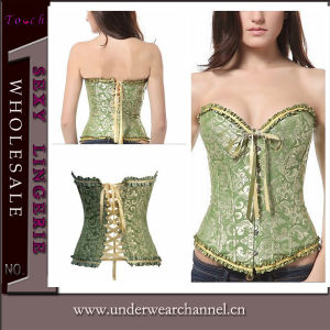 Plus Size Sexy Women Ruffle Overbust Underwear Corset (TG819) pictures & photos