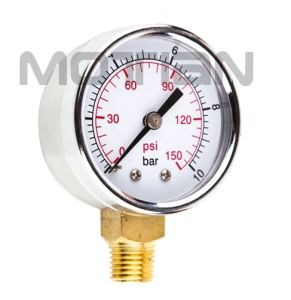 2 Inch Stainless Steel Shell Glass Surface Pressure Gauge with Safety Requirement