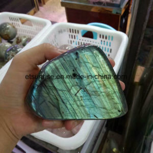 Semi Precious Stone Natural Crystal Labradorite Display Gemstone pictures & photos