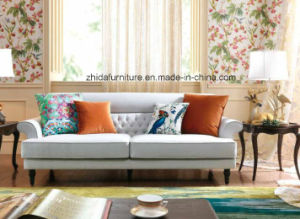 Fashion American Style Living Room Furniture Modern Fabric Sofa S6958 pictures & photos