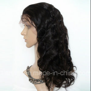 Natural Black Indian Virgin Raw Human Lace Front Hair Wig