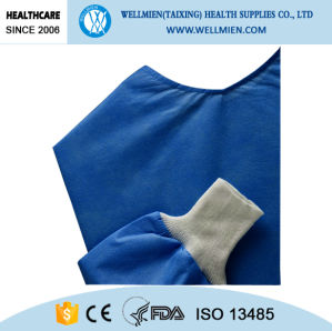 Alcohol and Blood Repellent Reinforced Sterile Surgical Gown pictures & photos