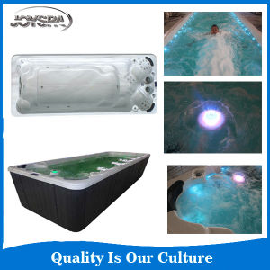 Balboa System Portable Rectangular Fiberglass Swimming Pool with Massage SPA Jets pictures & photos