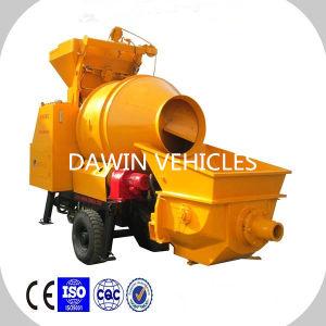 Trailer Mounted15m3/Hour Mobile Concrete Mixer Pump Concrete Pumping Ability 30m3/Hour pictures & photos