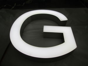 Face-Lit LED Channel Letters with LED Lighting as Outdoor Billboard Signage pictures & photos