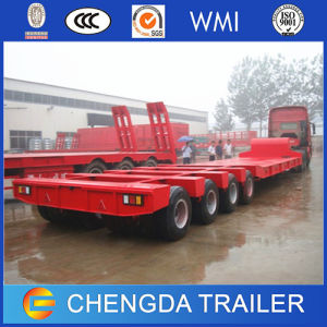 Heavy Duty 4 Axles 80ton Lowbed Trailers with Ladder pictures & photos
