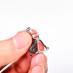 Genuine 925 Sterling Silver Necklace Cat and Dog Necklaces & Pendants for Women pictures & photos