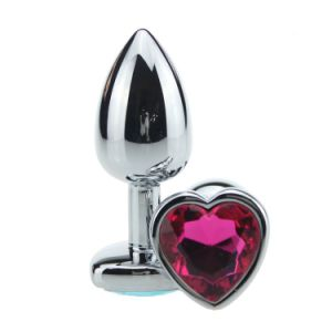 Heart Shape Stainless Steel Jeweled Anal Butt Plug pictures & photos