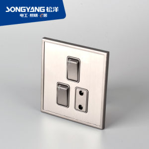 Stainless Steel Series 2gang&1socket Switch