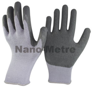 Nmsafety 10g Polyester Palm Coated Latex Work Safety Glove pictures & photos