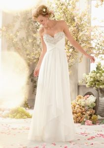 Chiffon Beaded Fashion Bridal Wedding Gowns (WD5004) pictures & photos