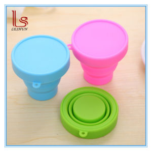 New Style Collapsible Portable Folding Silicone Drinking Cup pictures & photos
