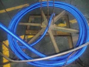 SAE 100 R5 Wire Braided Textile Covered Hydraulic Rubber Hose pictures & photos