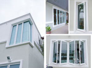 Galuminium Brand China Top Brand Aluminium Glass Windows and Doors Powdercoat Colorful pictures & photos