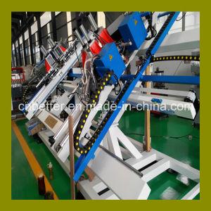 CNC Vertical Four Corner Welding Machine / CNC PVC UPVC Plastic Window Machine