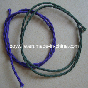Purple Fabric Twisted Cable Wire pictures & photos