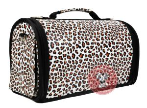 Leather Pet Dog Carrier with SGS Certificate