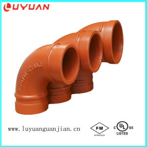 Ductile Iron Grooved 90 Degree Elbow with FM/UL Approval for Fire Protection Pipe pictures & photos