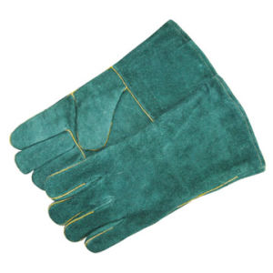 Cow Split Leather Weldling Gloves Hj1119 pictures & photos