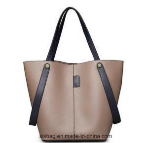PU Soft Tote Bag Fashion Pure Color Shoulder Bag pictures & photos