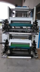 2 Color Flexo Printing Machine on PVC BOPP Non-Woven Material pictures & photos