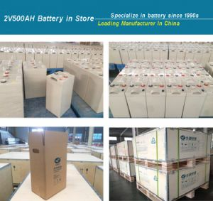 2V500ah Deep Cycle Gel Battery for Solar Power Station pictures & photos