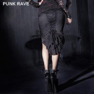 Wholesale Punk Rave Sexy Gothic Fishtail Lace Peplum Dress (Q-182) pictures & photos
