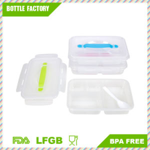 Bento Lunch Boxes with Leak-Proof Lid Reusable Plastic Food Storage Containers - Microwave 4 Divided Compartments pictures & photos