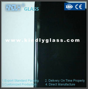 5mm Black Silk Tempered Glass for Building with CE