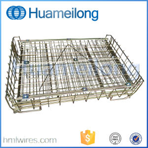 Warehouse Storage Stacking Steel Wire Mesh Container for Wine Storage pictures & photos