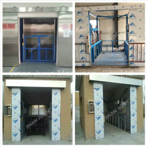 Stationary Hydraulic Guard Rail Lift Platform pictures & photos