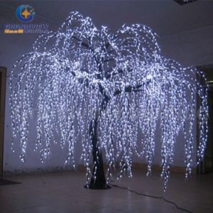 How To String Lights On A Fake Christmas Tree : China Lighted Willow Tree Real Look Trunk LED Indoor out Door Artificial Christmas Tree Lights ...
