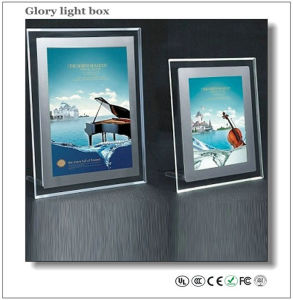 Hot Sale Crystal Light Box/Desktop LED Acrylic Poster Signs pictures & photos