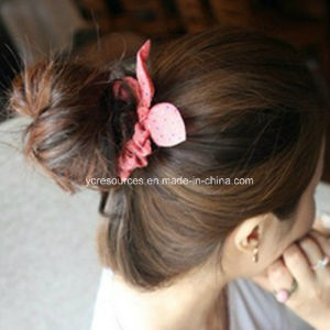 Print DOT Rope Rabbit Ears-Lovely Hair Band, Hair Ring pictures & photos