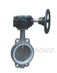 Wafer Type Soft Seal Stainless Steel Butterfly Valve pictures & photos