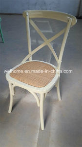 Hot Sale and High Grade Solid Oak Wood Rattan Seat X Cross Back Dining Chair pictures & photos